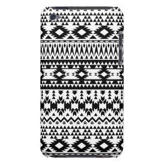 Étuis iPod Touch Motif géométrique aztèque noir et blanc de vecteur