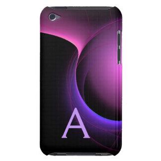 Étuis iPod Touch Pourpre noir vibrant de MONOGRAMME d'ÉCLIPSE