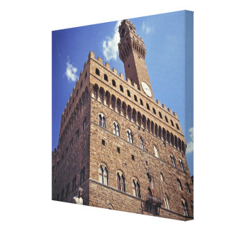 Europa, Italië, Florence. Middeleeuwse Plazzo Canvas Afdrukken
