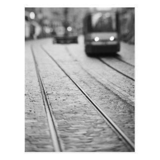 Europa, Zwitserland, Berne. De sporen van de tram, Briefkaart
