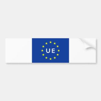 Europese Unie de tekstnaam Europa van het vlagland Bumpersticker