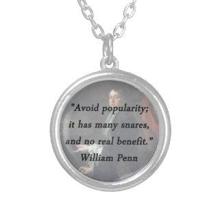 Évitez la popularité - William Penn Collier
