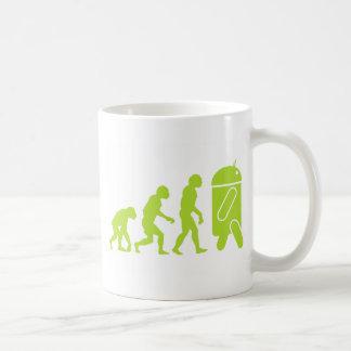 Évolution androïde mug blanc
