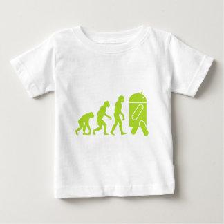 Évolution androïde t-shirt pour bébé