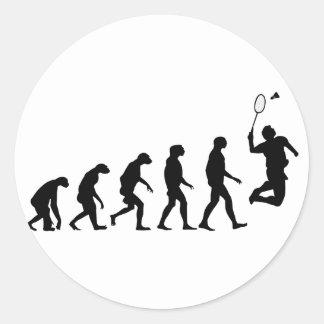 Évolution de badminton sticker rond