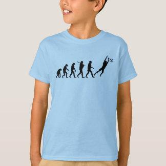 Évolution de gardien de but du football t-shirt