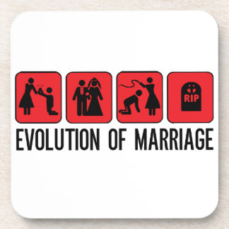 Évolution de mariage dessous-de-verre