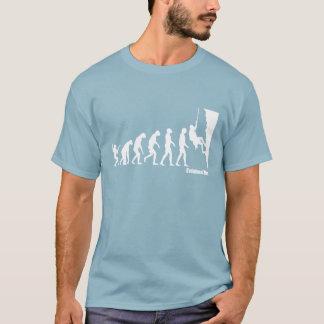 Évolution de T-shirt d'escalade de l'homme