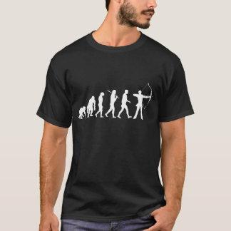 Évolution de tir à l'arc d'un tir à l'arc de tir à t-shirt