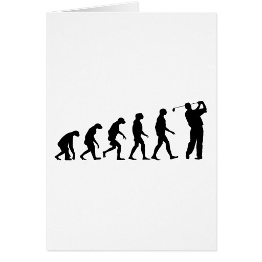 Évolution du golf cartes de vœux