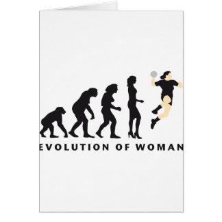 évolution female handball carte de vœux