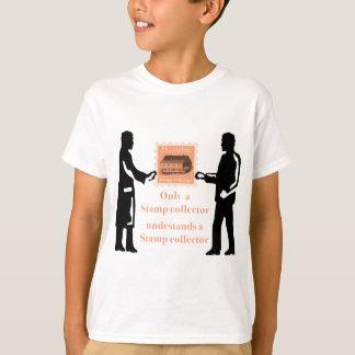 évolution stamp collector philatelist t-shirt