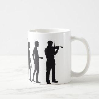 évolution violin tasse à café