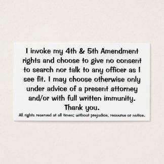 Exclamation des cartes de Droits constitutionnels