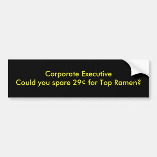 ExecutiveCould d'entreprise vous épargnez 29¢ pour Autocollant De Voiture