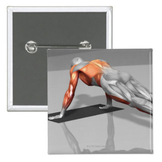 Exercice 4 de mouche de serviette badge carré 5 cm