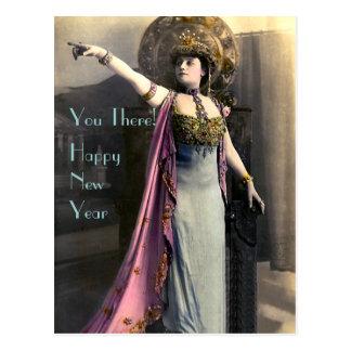 Exiger une bonne année carte postale