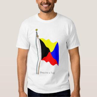 Exigez une chemise de drapeau de signal de zoulou tee shirt