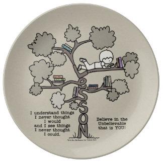 Expérience acquise assiettes en porcelaine