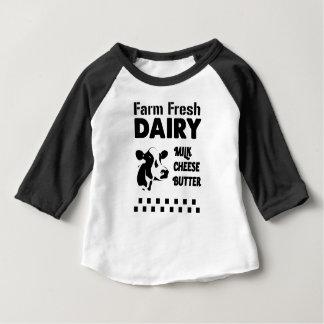 Exploitation laitière fraîche, beurre de fromage t-shirt pour bébé