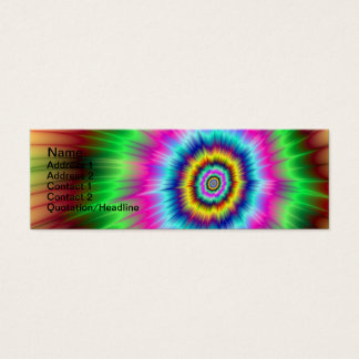 Explosion de carte de couleur carte de visite petit format