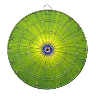Explosion de couleur dans la cible verte et jaune