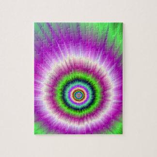 Explosion de couleur dans le puzzle rose et vert