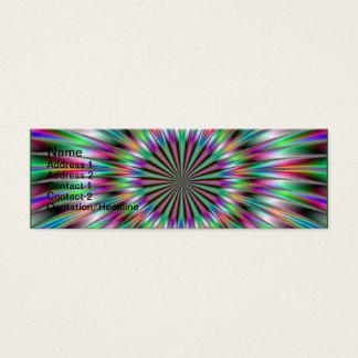 Explosion de fractale carte de visite petit format