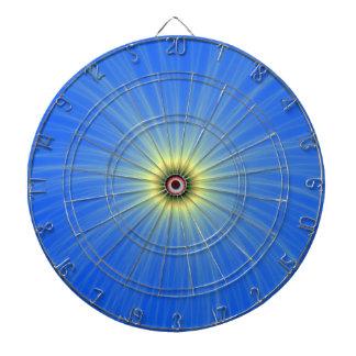 Explosion jaune de couleur sur la cible bleue