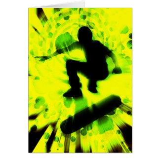 explosion légère de planche à roulettes carte de correspondance