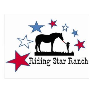 Exposition que vous soutenez avec le logo de ranch carte postale