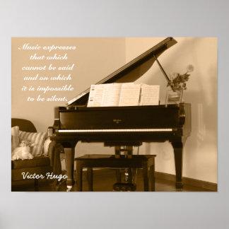 Express de musique -- Citation de Victor Hugo - Poster