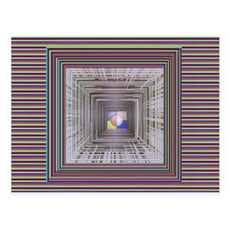 Extrémité cosmique ARTISTIQUE de lumière d'ART Carte Postale