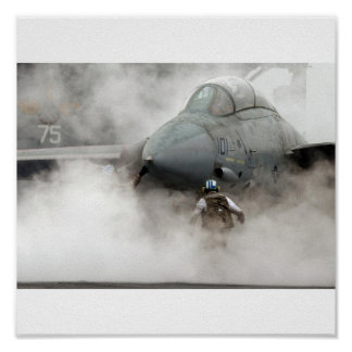 F-14 in smoke poster