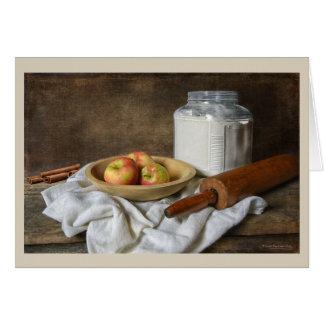 Fabrication d'une tarte aux pommes carte