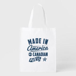 Fabriqué en Amérique avec les pièces canadiennes Sacs D'épicerie