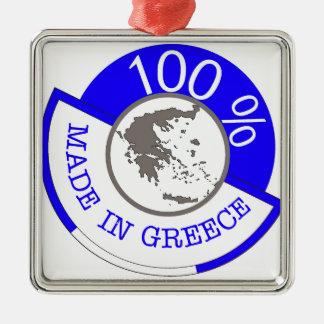 Fabriqué en Grèce 100% Ornement Carré Argenté