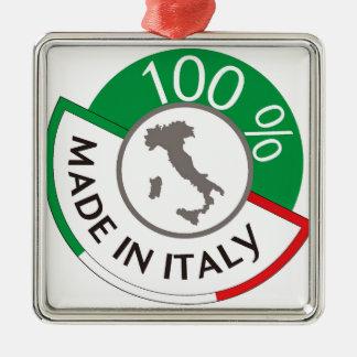 FABRIQUÉ EN ITALIE 100% ORNEMENT CARRÉ ARGENTÉ