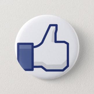 """Facebook: Echt """"als"""" Knoop Ronde Button 5,7 Cm"""