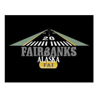 Fairbanks Alaska - piste d'aéroport Carte Postale