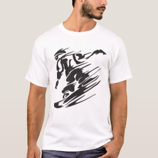 faire du surf des neiges t-shirt