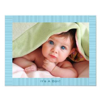Faire-part de Boyl de bébé bleu
