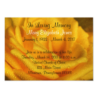 Faire-part de cérémonie commémorative de rose