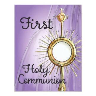 Faire-part de communion de pourpre premier