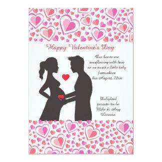 Faire-part de grossesse d'amour de Valentine