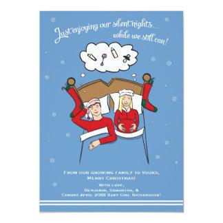 Carte Faire-part de grossesse de carte de Noël - blonde