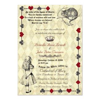"""Faire-part de mariage """"Alice au pays des"""