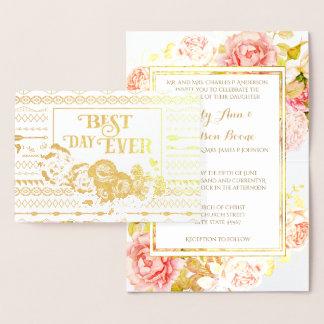 Faire-part de mariage aztèque rose de typographie