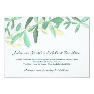 Faire-part de mariage botanique moderne de verdure