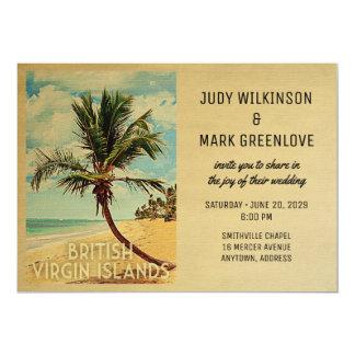 Faire-part de mariage BVI des Îles Vierges